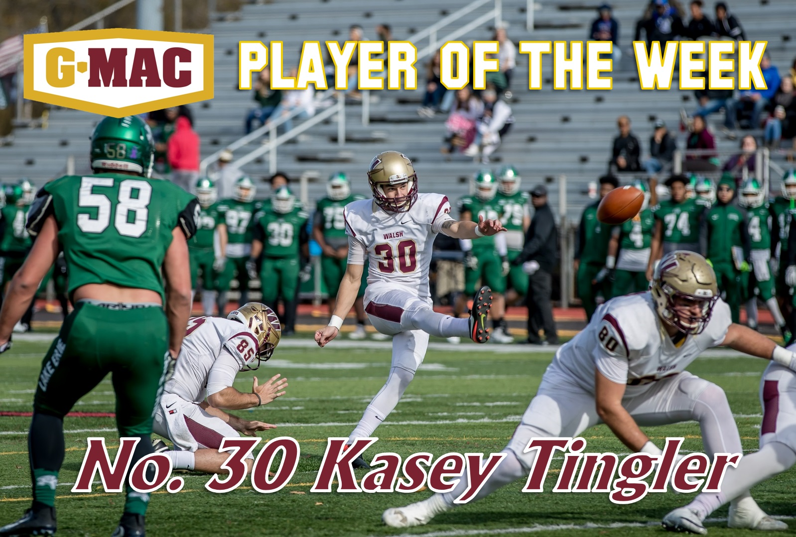 Tingler Named G-MAC Special Teams Player of the Week