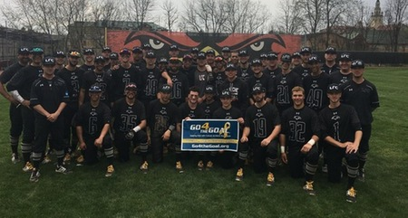 LA ROCHE BASEBALL SUPPORTS PEDIATRIC CANCER AWARENESS
