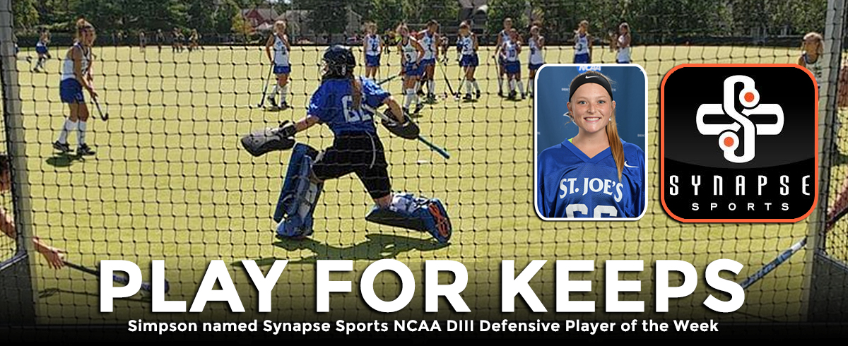 Simpson Named Synapse Sports NCAA DIII Defensive Player of the Week