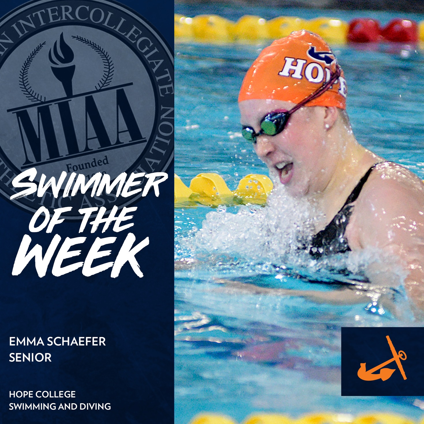 Emma Schaefer swims