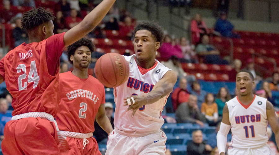 Kai Mitchell and the No. 1 Blue Dragons play host to the Colby Trojans at 7:30 p.m. on Wednesday at the Sports Arena. (Allie Schweizer/Blue Dragon Sports Information)