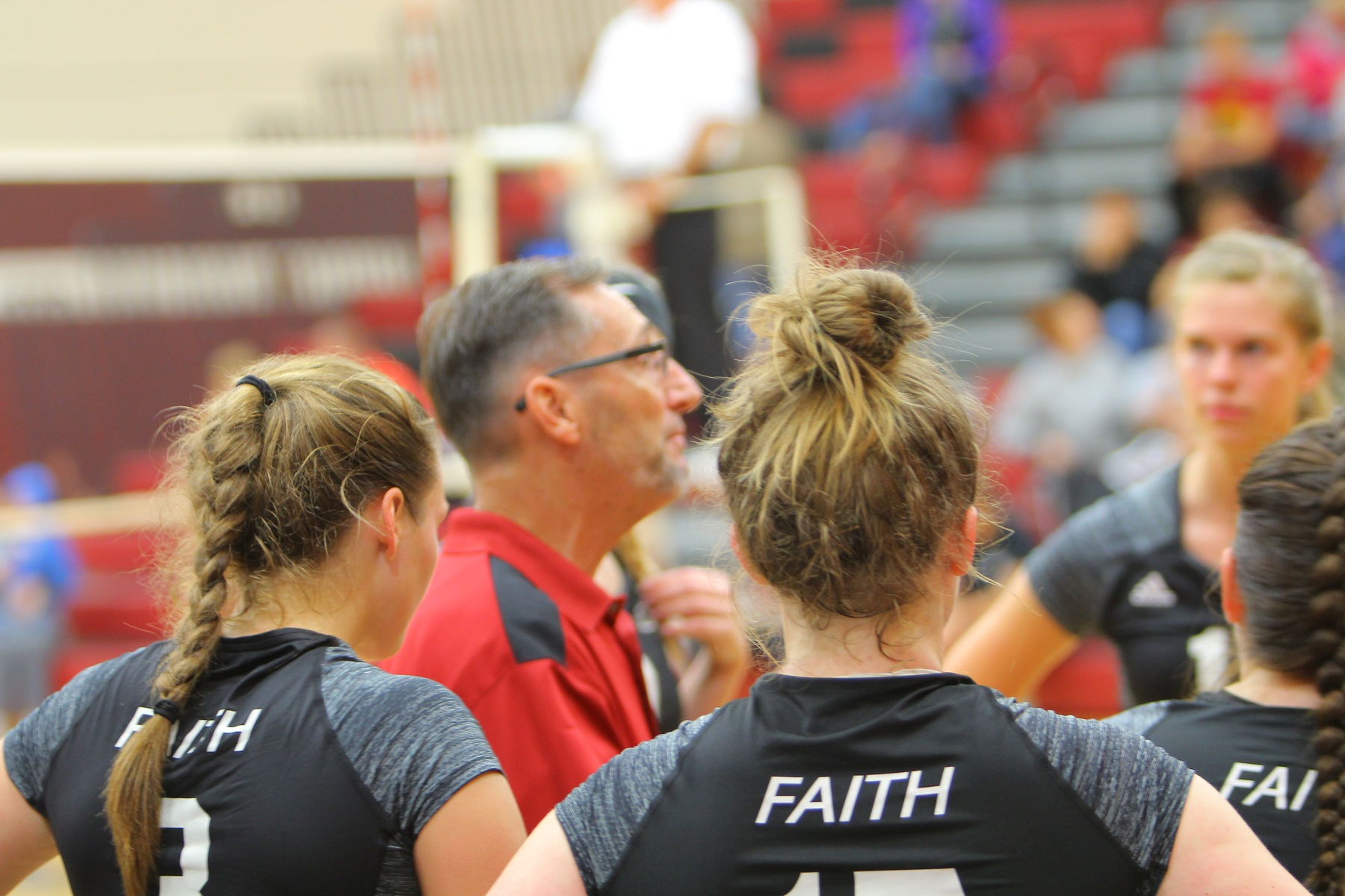 Coach Nihart. Faith Eagles 2018 Volleyball