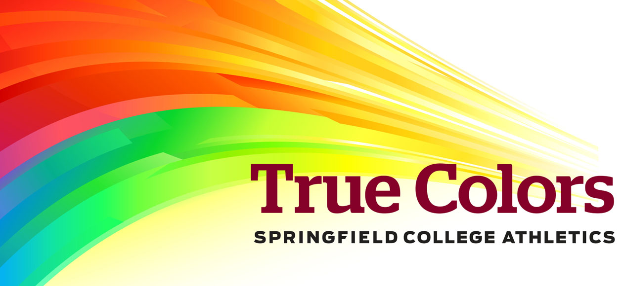 Rainbow Image of True Colors for Springfield College Athletics