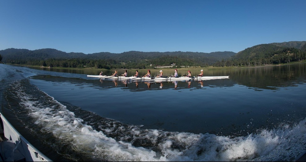 Women's Rowing Finishes Races Against Saint Mary's Humboldt State