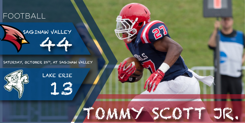 Football Scores 44-13 Home Victory Over Storm in GLIAC Action