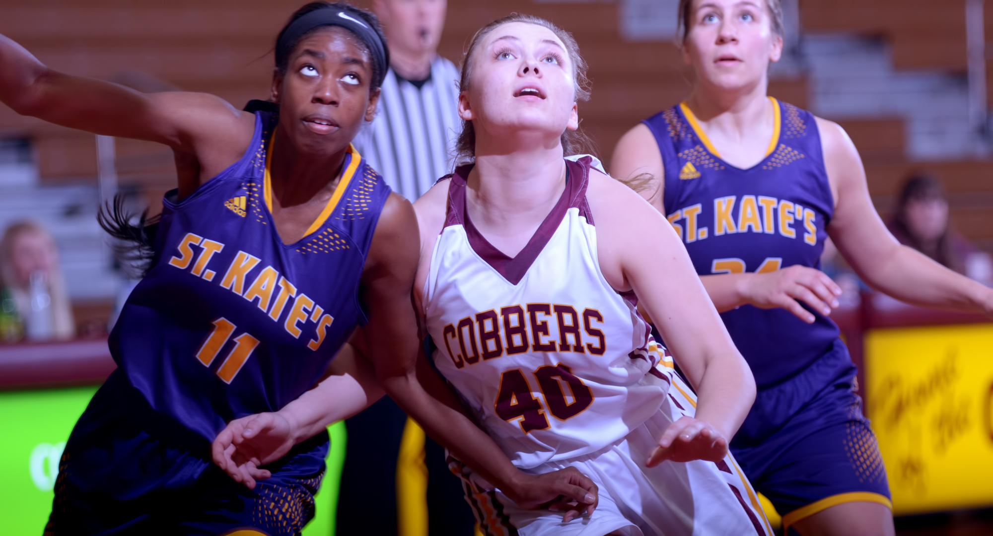 Sophomore Mira Ellefson had a game-high 14 points and helped the Cobbers beat St. Olaf 65-46 in Northfield.