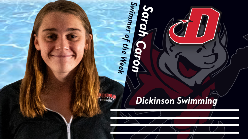 Caron Named CC Women's Swimmer of the Week