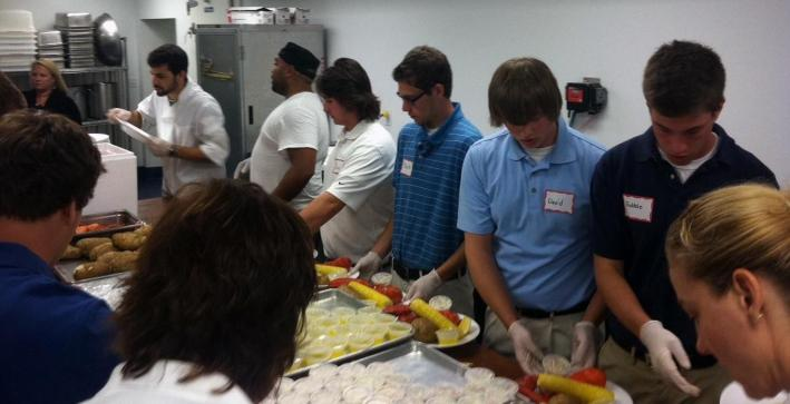Men's Lacrosse helps at 15th Annual Lobster Fest