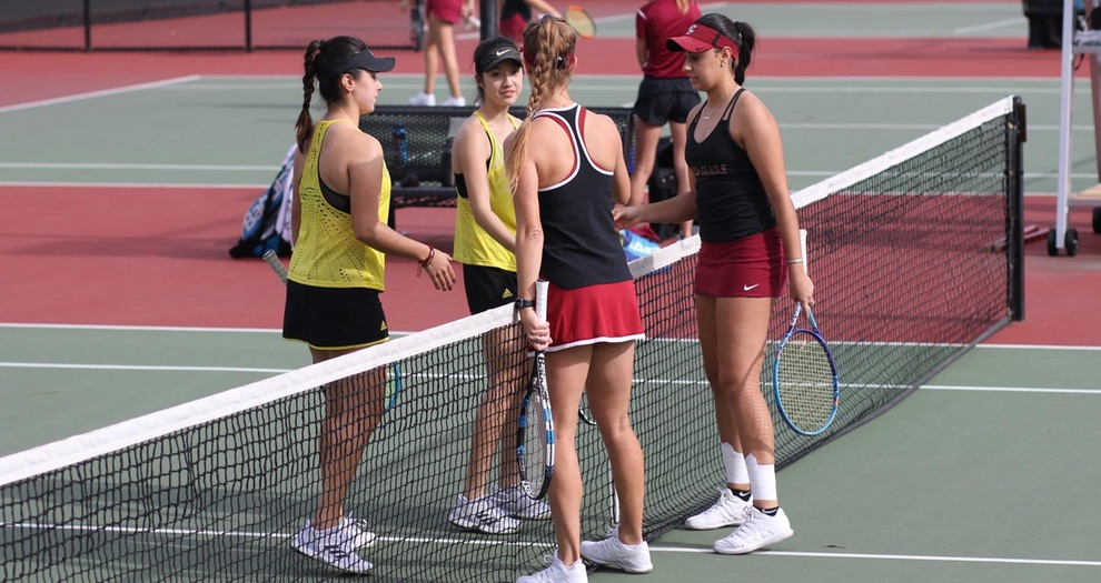 Women's Tennis Sweeps Dominican, 7-0, in Dual Match Opener on Saturday