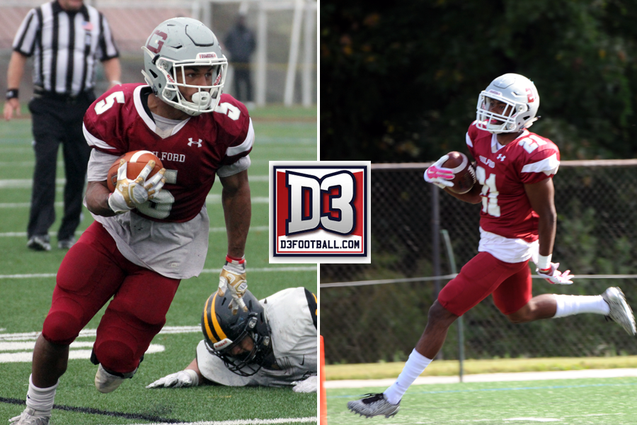 De'Eric Bell '18 (Emily Zegel '18 photo), Vic Smith, Jr. '18 (Jim Schlosser '65 photo)