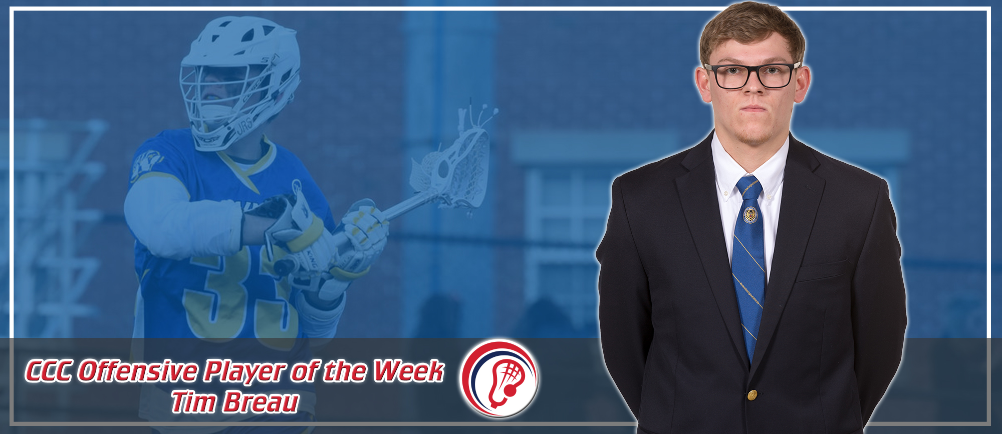 Tim Breau Named CCC Offensive Player of the Week