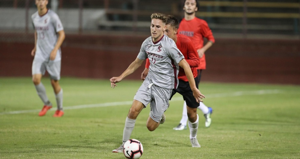 Men's Soccer Fall 3-2 to Pacific in Double Overtime