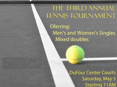 CUA IM office to host third annual Tennis Tournament on May 5