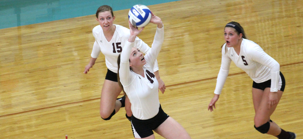 Women's Volleyball Outlasts Endicott, 3-1, in NCAA Championship Opening Round