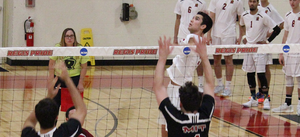 Men's Volleyball Picks Up Key Victory At Elms