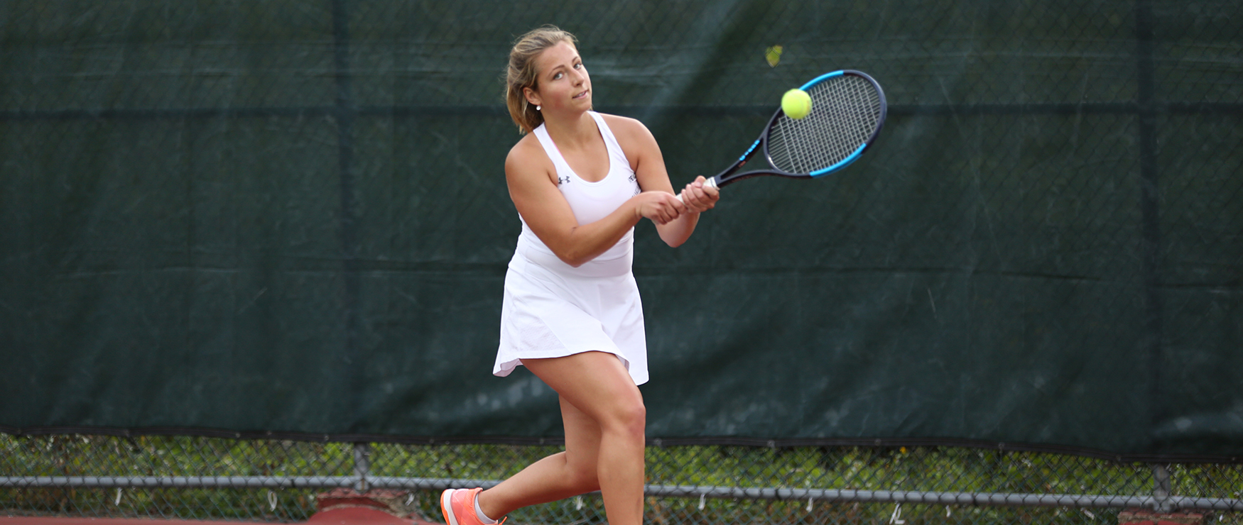 Women's Tennis Slips Past Bentley, 4-3