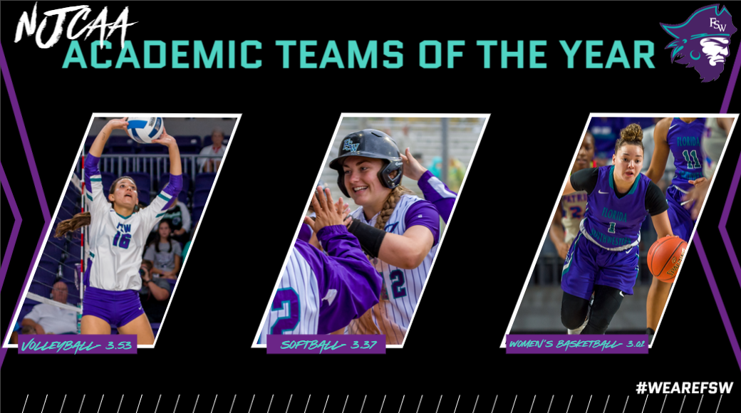 FSW Volleyball, Softball, Women's Basketball Earn NJCAA Academic Team of the Year Awards