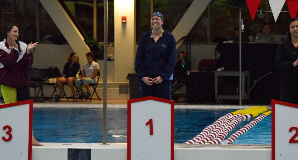 Pruden Repeats as 200-IM Champion; Swimming & Diving 9th After Day 2 at NEWMACs