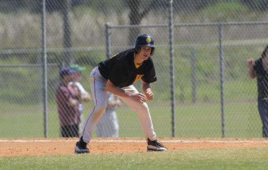 Baseball Team Splits With Mitchell