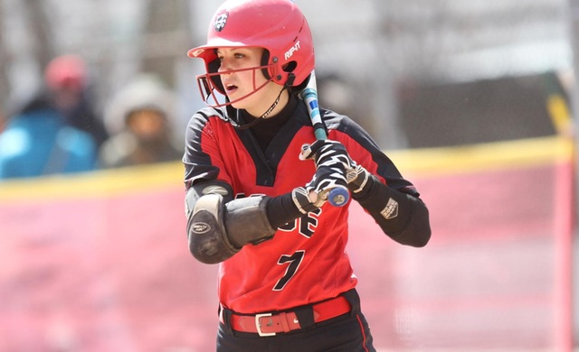 Softball Battles Back For Split vs. Marian
