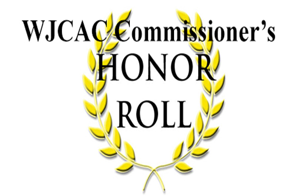 2018 Spring WJCAC Commissioner's Honor Roll
