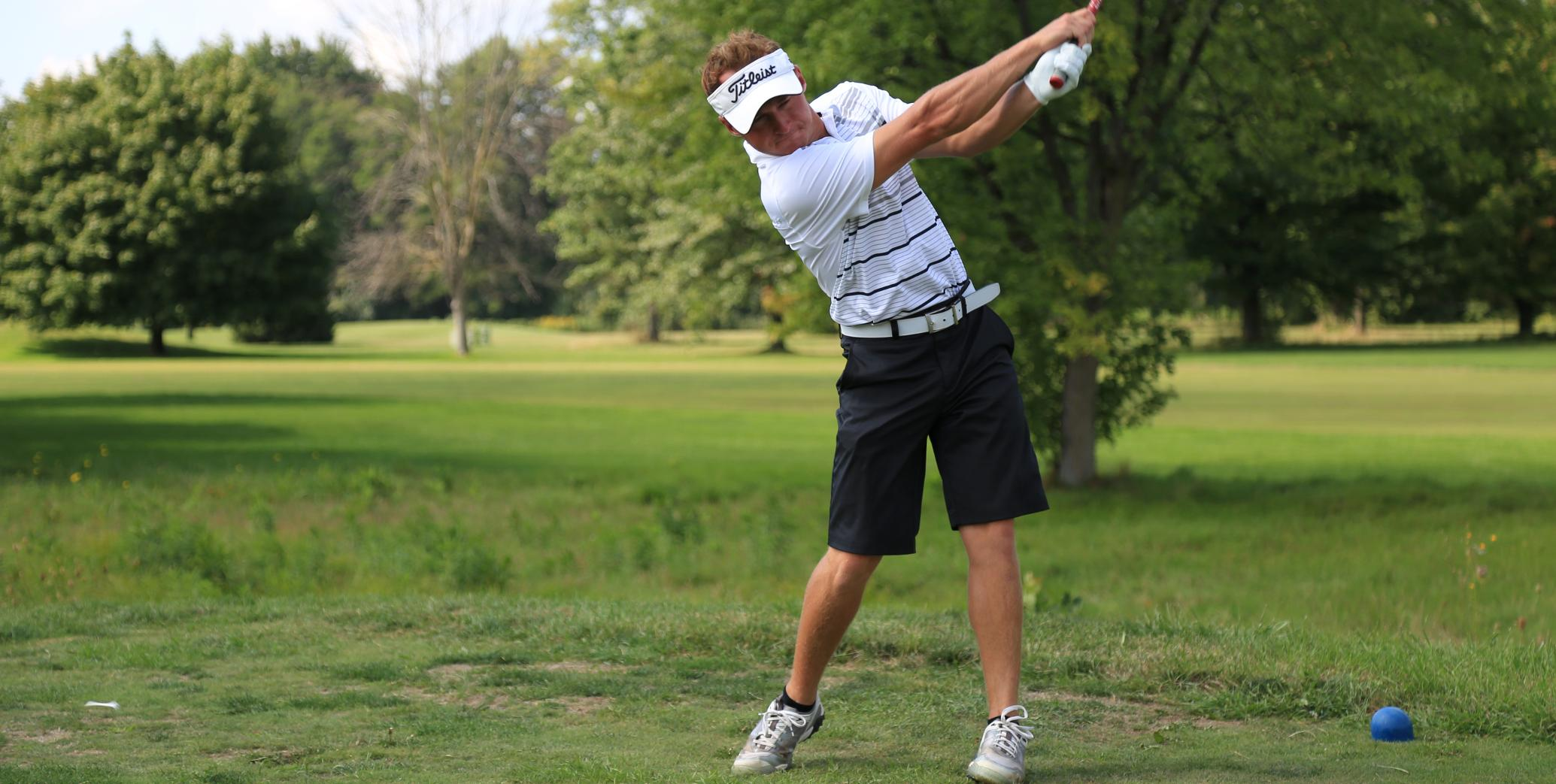 Carter's 70 leads SVSU Men's Golf in round one at GLIAC North Invite
