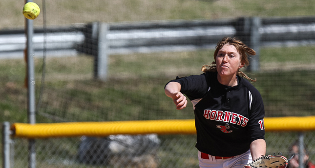 Hornets Split Softball Doubleheader against Randolph