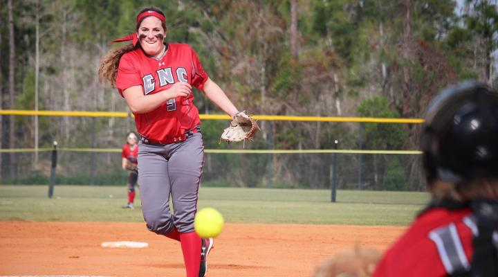 Softball Wins Twice on Opening Day, Tops Elms and Olivet