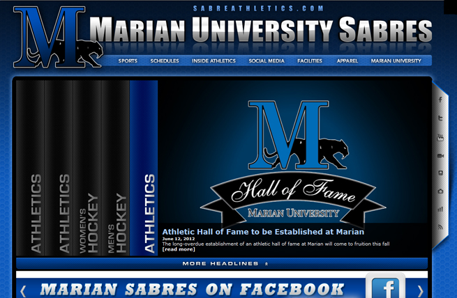 SabreAthletics.com Relaunched with New Look, Features