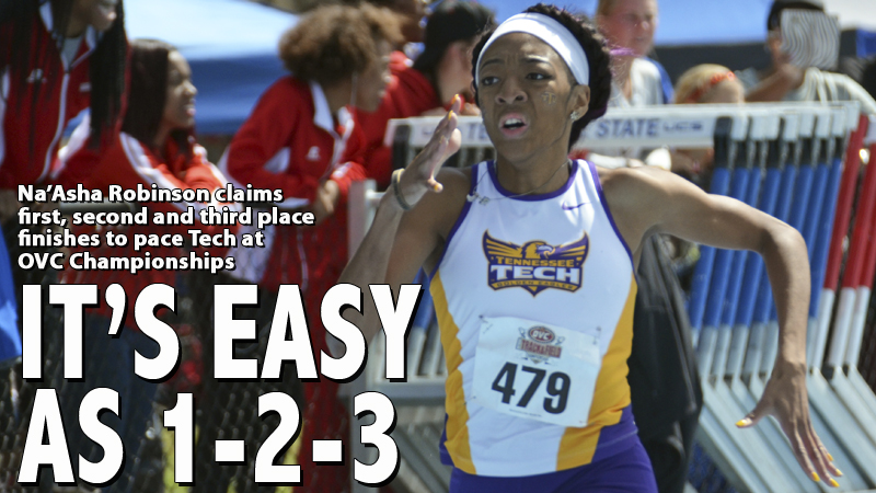Robinson, Jackson win individual titles, Golden Eagles eighth at OVC Championships