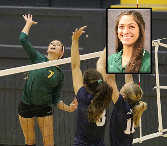 Ortiz-Whittemore earns Volleyball Athlete of the Week nod