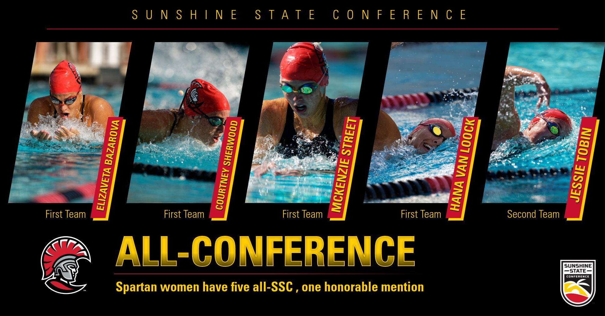 SSC Champs Place Six on All-Conference Team