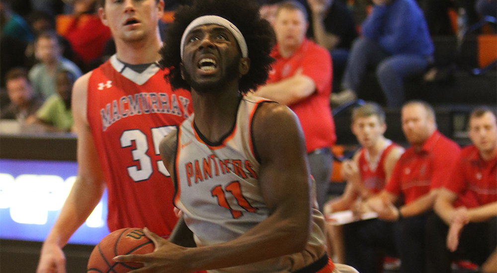 Men's basketball races away from MacMurray