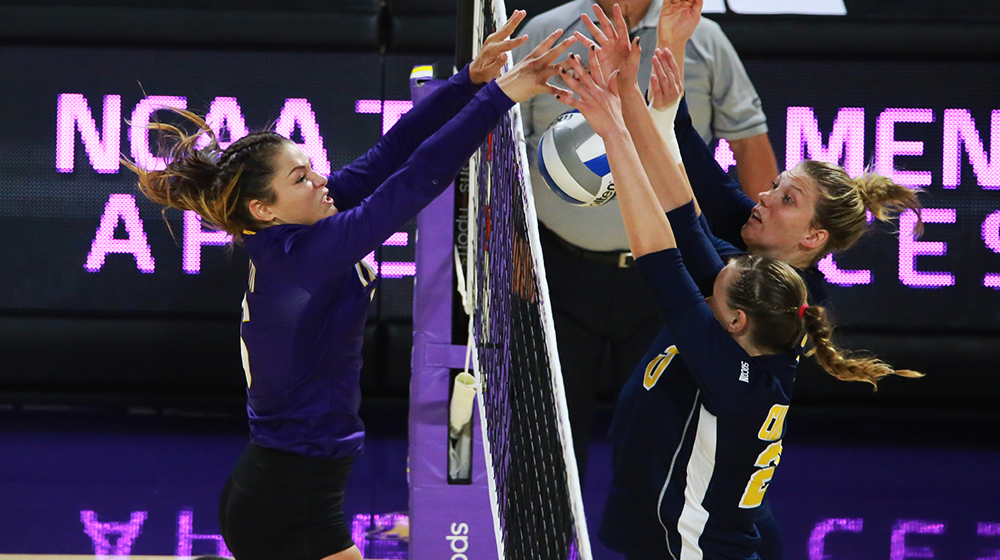 Tech volleyball finds groove in second set, downs Chattanooga 3-1