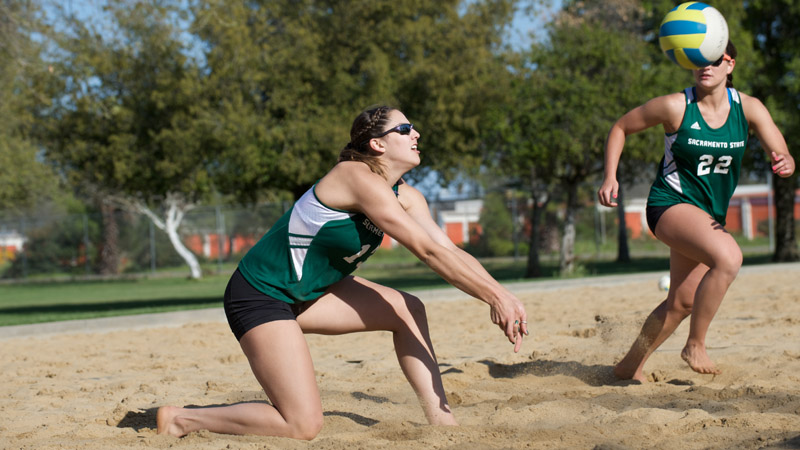 SAND VOLLEYBALL BEATS CAL, WINS FIRST-EVER MATCH