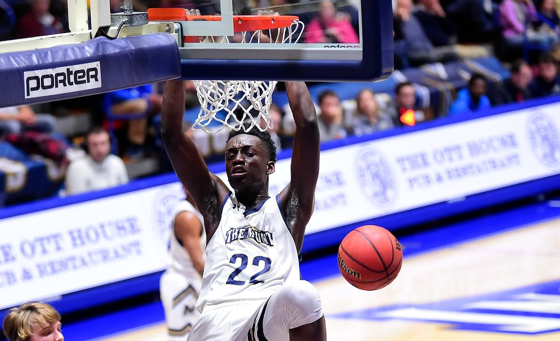 Mount Men's Basketball Edged in Battle with Merrimack, 64-61