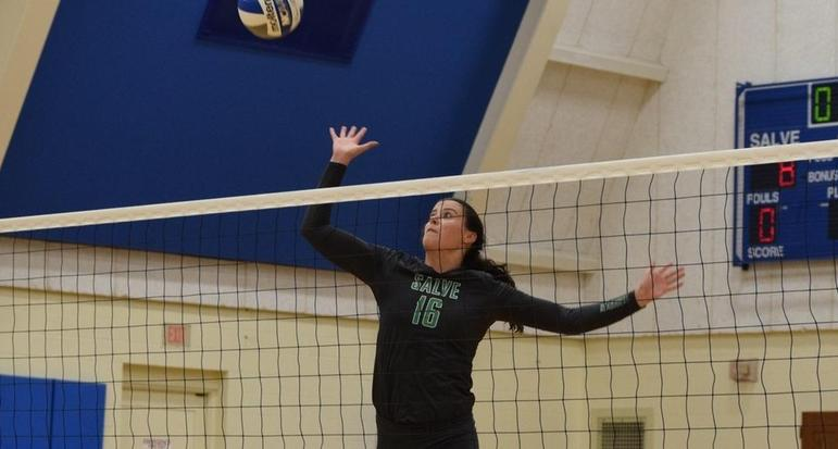 Salve Regina forced a fourth set but eventually fell 3-1 to Wheaton College in non-league play Thursday night.