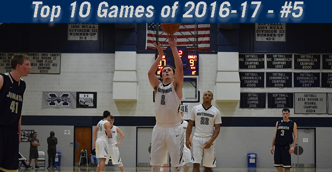 Top 10 Games of 2016-17 - #5 Men's Basketball Defeats Juniata in Double Overtime