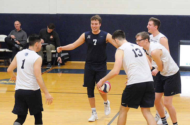 Men's Volleyball: Rivier Knocks Off No. 1 ranked, Springfield College 3-0