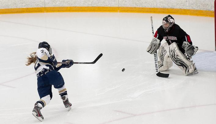Blugolds Fall to Falcons in First Game of NCHA Quarterfinals