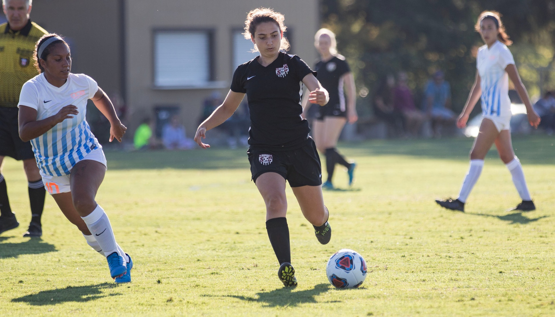 Sophomore Forward Christina Kanellou (08) scored one of the 12 goals in Sierra's 12-0 defeat of College of the Sequoias on Tuesday, August 28, 2018.