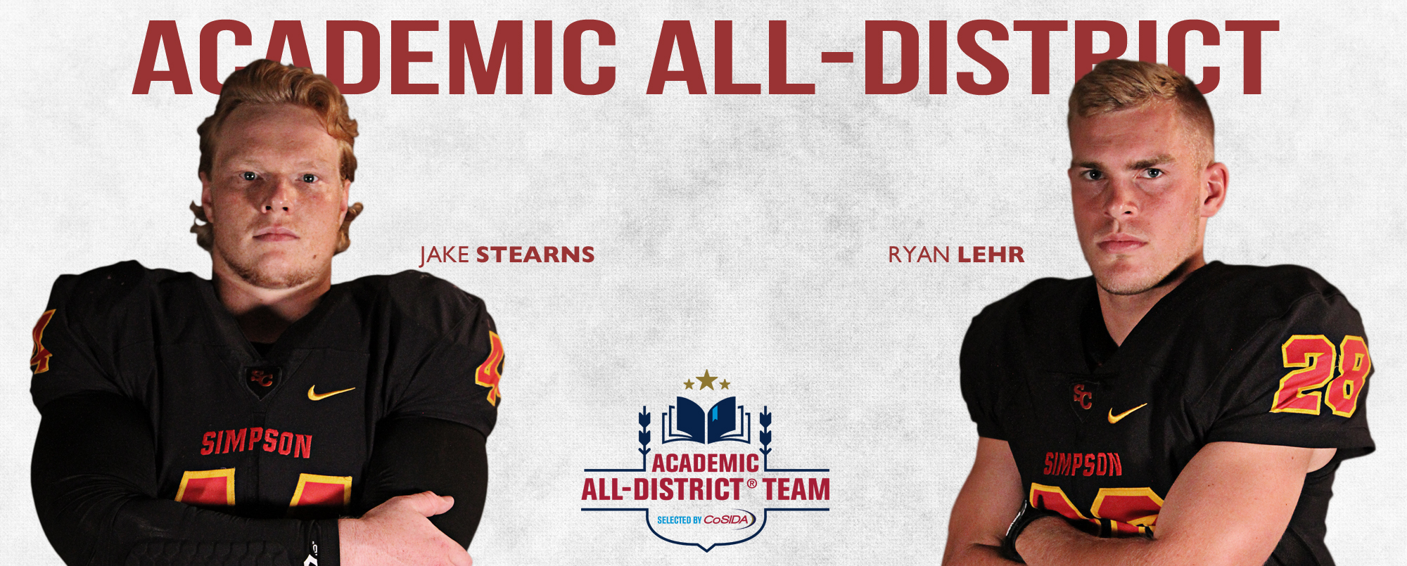 Jake Stearns and Ryan Lehr earned a spot on the 2017 CoSIDA Academic All-District 8 First Team.