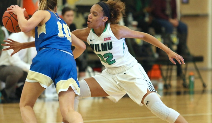 Copyright 2018; Wilmington University. All rights reserved. File photo of freshman Jadyn Whitsitt who scored a season high 22 points at Caldwell taken by Frank Stallworth. January 6, 2018 vs. Georgian Court.