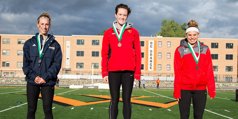Galbraith wins long jump title on first day of IIAC Championship