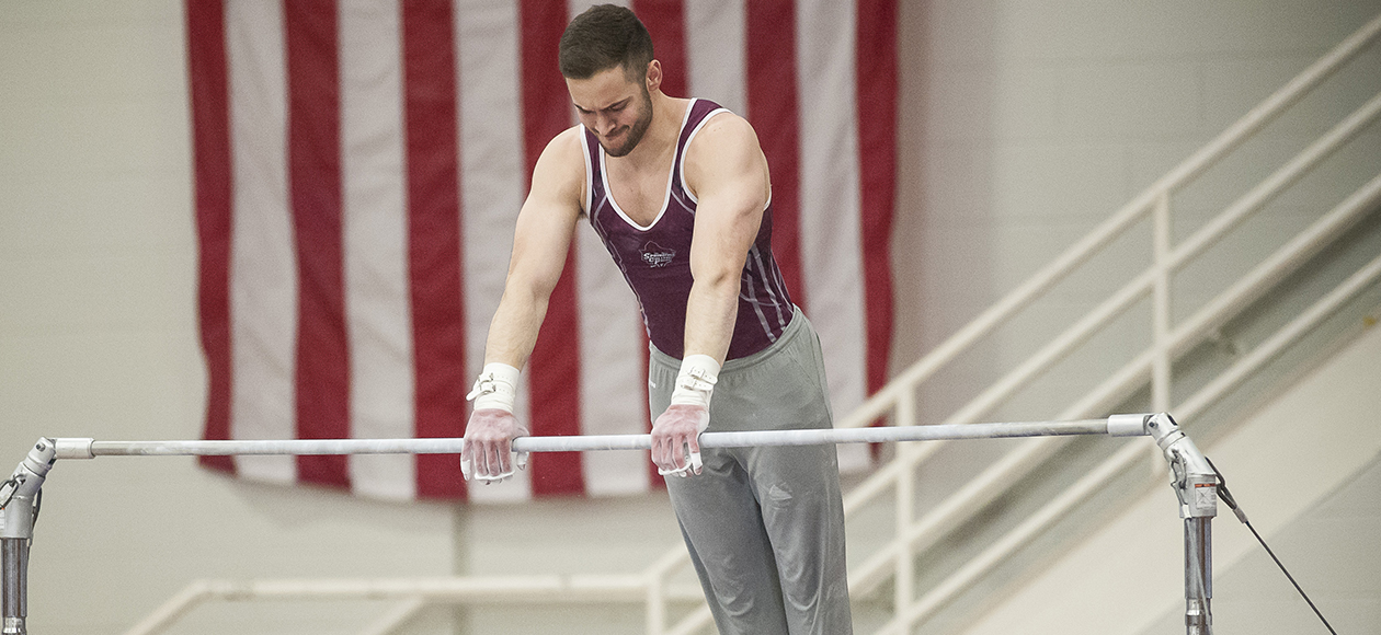 Men's Gymnastics Drops Dual Meet to Navy, 383.250-380.650