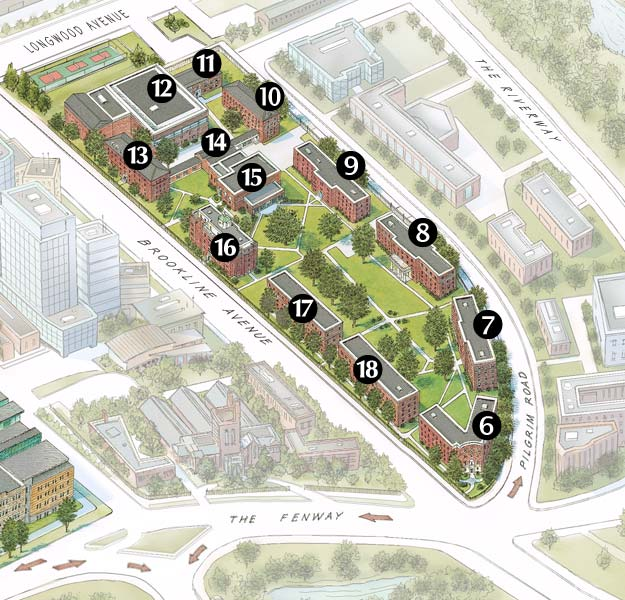 simmons college campus map. simmons athletics visitors guide college campus map m
