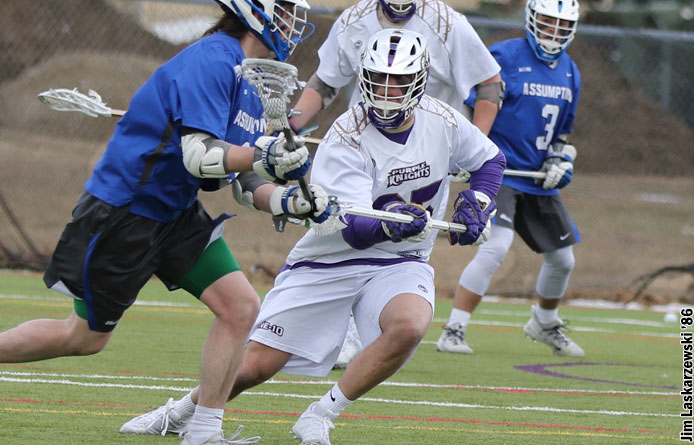 Men's Lacrosse Unable to Overcome No. 1 Adelphi in NE10 Play