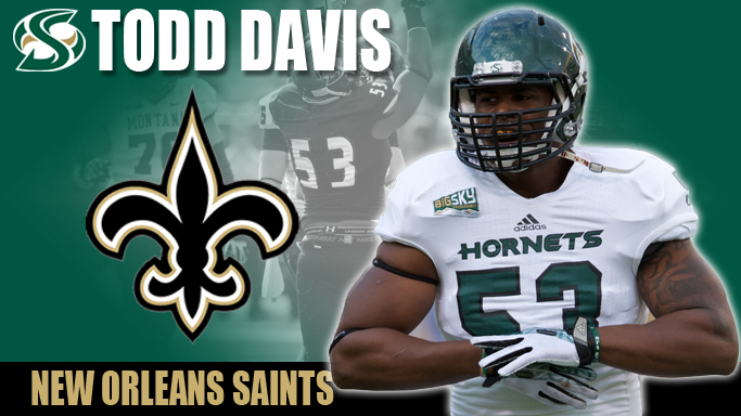 TODD DAVIS SIGNS WITH THE NEW ORLEANS SAINTS