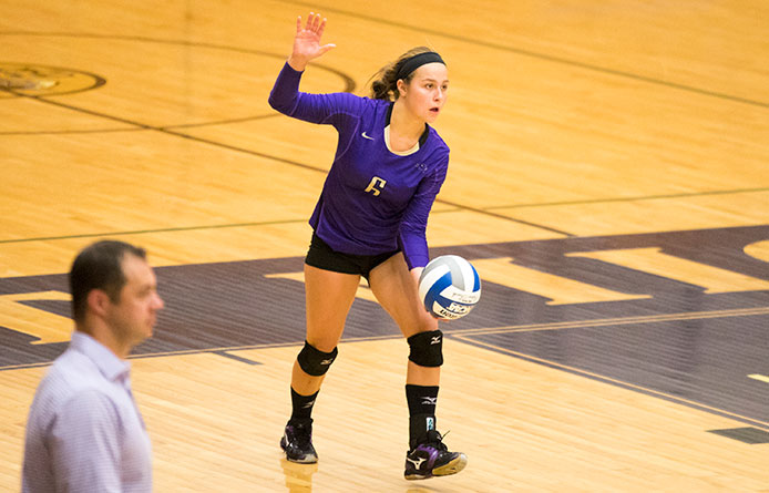 Women's Volleyball Opens Challenging Stretch with Loss at AIC
