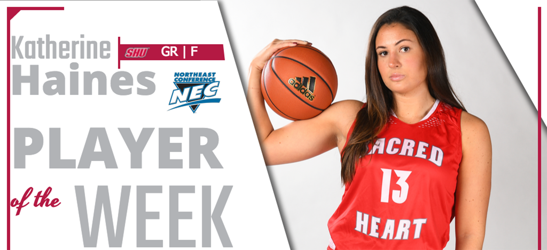 Haines Named Northeast Conference Player of the Week